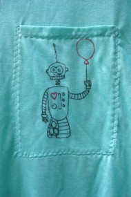 robot heart pocket detail