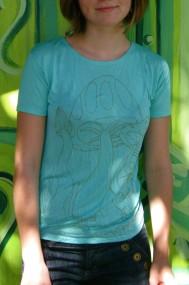 green mushroom shirt
