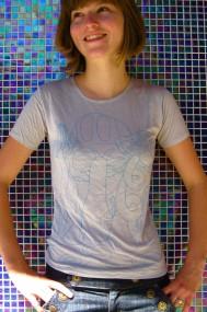 aqua mushroom shirt