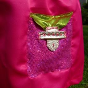 Allia pink glitter skirt pocket detail