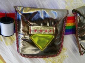 sewing bandolier pocket detail