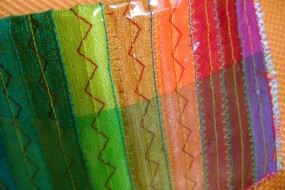 rainbow wallet detail