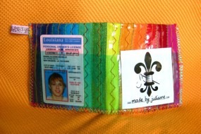 rainbow wallet front
