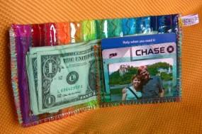 rainbow wallet inside