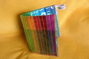 rainbow wallet detail