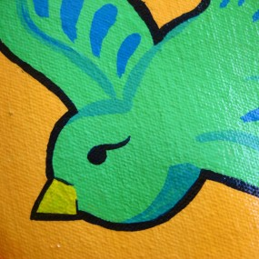 green birdy detail