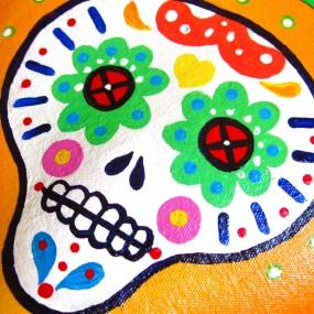 tangerine skull detail