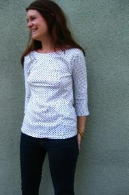 navy dot shirt