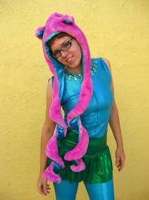 pink furrr hood