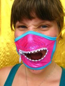 Hannah in a diamond mask