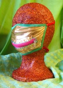 gold zipper mask