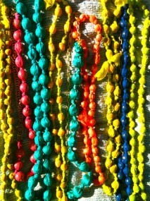 beaded necklace rainbow!