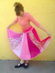 pink gypsy skirt