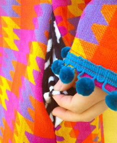 Mystic Jigsaw coat pocket detail