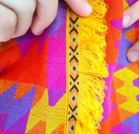 Mystic Jigsaw coat fringe detail