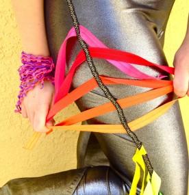 rainbow fringe leggings