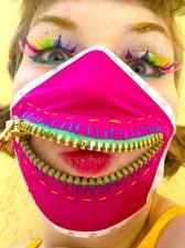 mega gold zipper mask