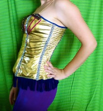 gold bustier