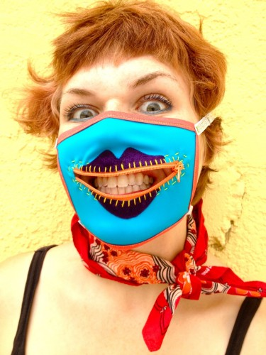 velvet gag mask, made by Julianne