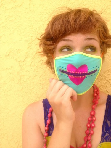 speak no evil mask, made by Julianne