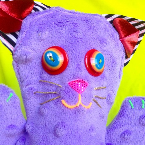 cat puppets, made by Julianne