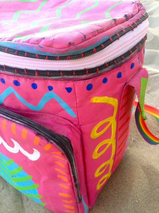 painted cooler, made by Julianne