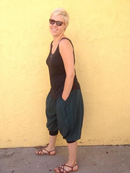 chevron genie pants, made by Julianne