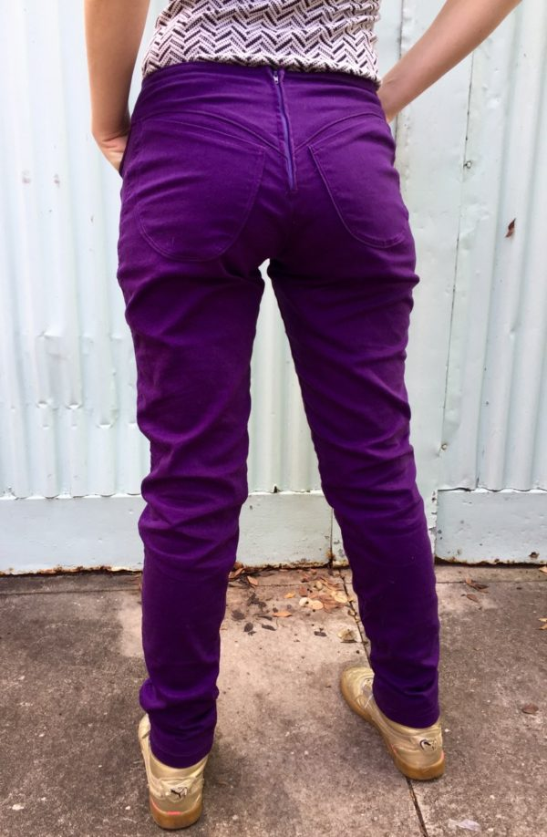 purple pants, made by Julianne